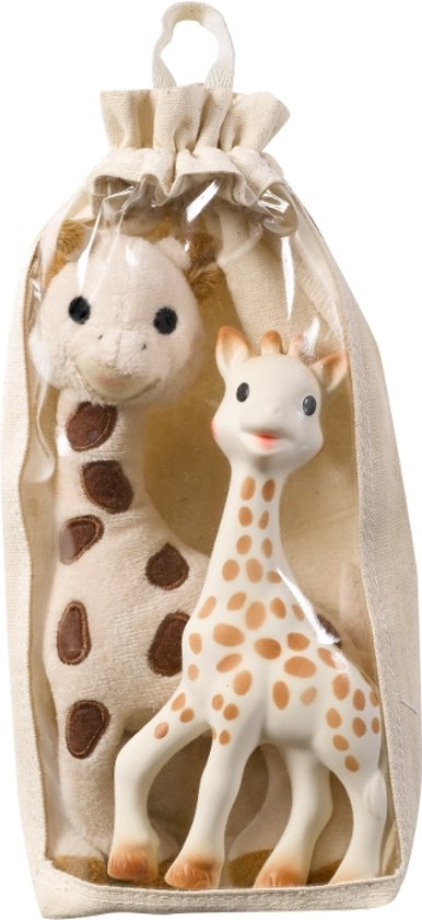 Sophie de Giraf - Katoenen knuffelset