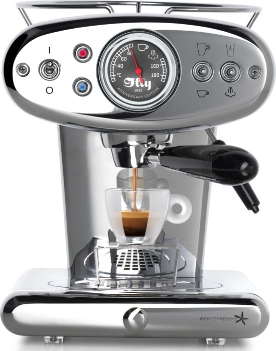 illy Francis Francis X1 Anniversary Iperespresso - Koffiecupmachine - Chroom
