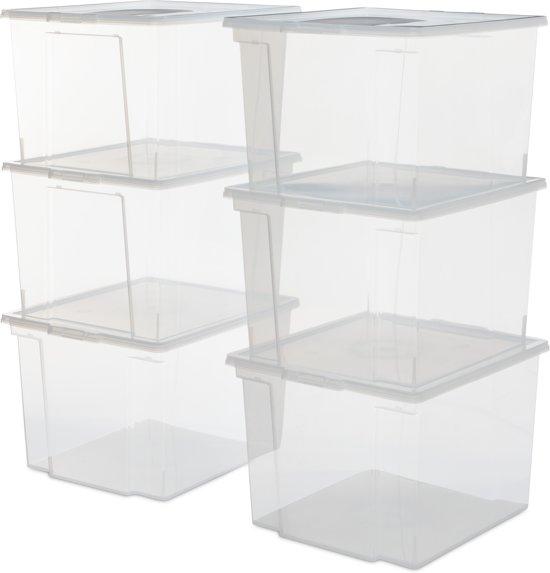 IRIS Useful Storage Box opbergbox - 30L - Transparant - 6 stuks