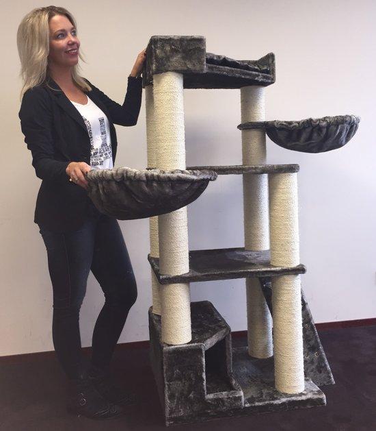 Krabpaal Corner Coon Taupe voor grote en zware katten van RHRQuality