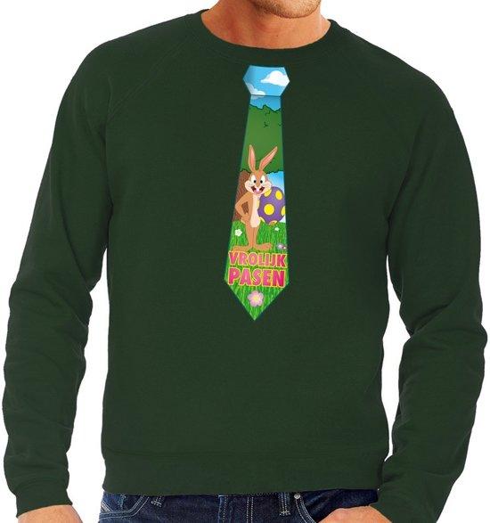 Groene Trui Heren.Bol Com Groene Paas Sweater Met Paashaas Stropdas Pasen Trui