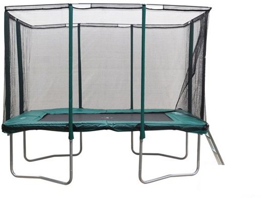 Etan Premium Platinum Combi Trampoline set 281x201 cm - inc. Veiligheidsnet - Groen - Rechthoekig