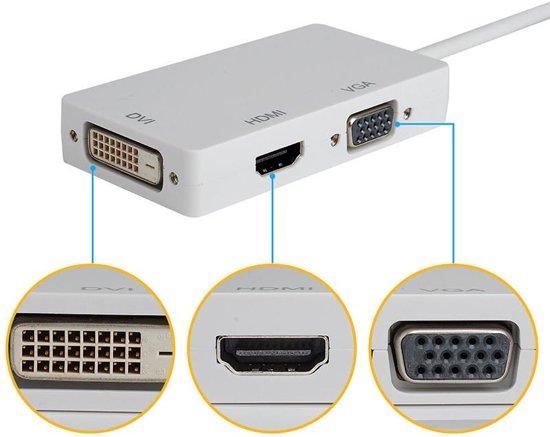 Mini DisplayPort DP Male to DVI HDMI VGA Female Adapter Cable Converter