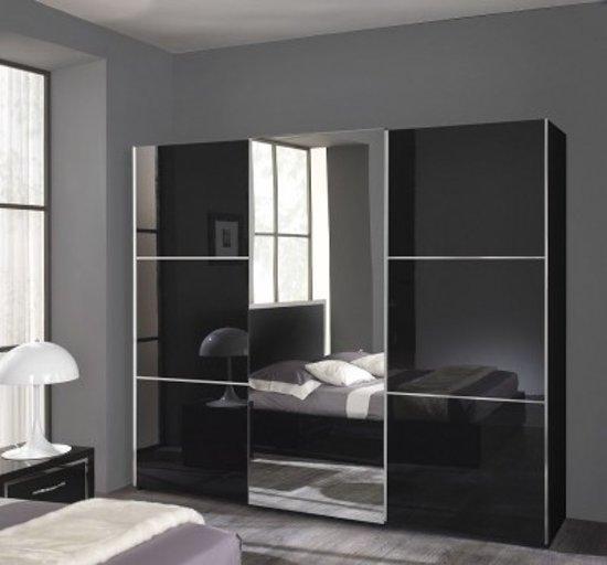 Zwarte Kledingkast Met Spiegel.Bol Com Davidi Design Moral Kledingkast Zwart Hout Metaal Glas