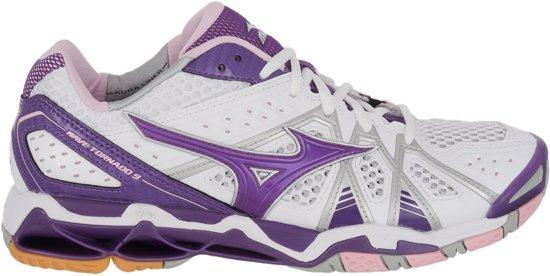 Mizuno Wave Tornado 9 Indoorschoenen dames  Sportschoenen - Maat 43 - Vrouwen - wit/paars/roze