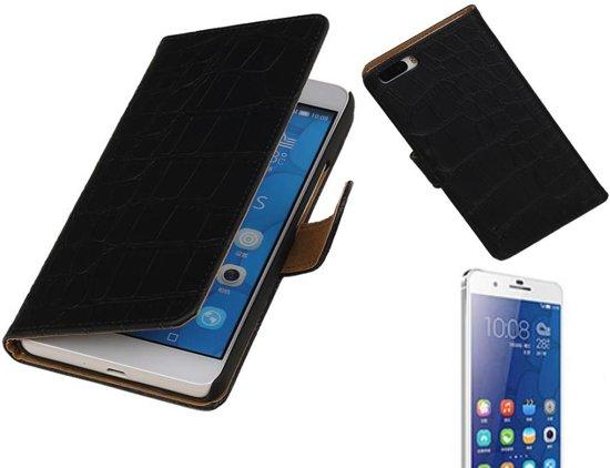 MP Case Croco Bookstyle Hoes voor Huawei Honor 6 Plus Zwart in Koninginnehaven