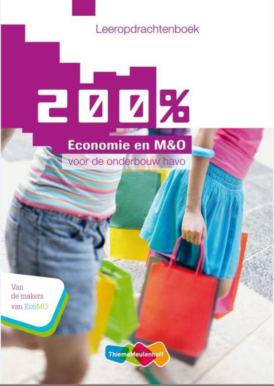 200 Economie en M O Voor de onderbouw Havo deel Leeropdrachtenboek