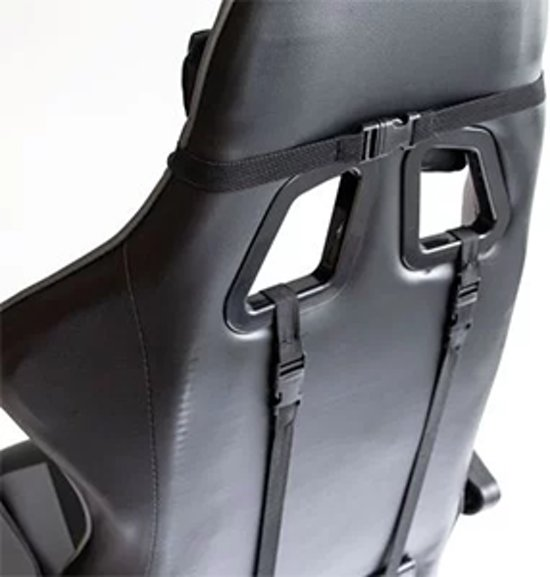 Ergolution - Gamestoel met kantelfunctie en verstelbare armleuningen (Zwart - Grijs)