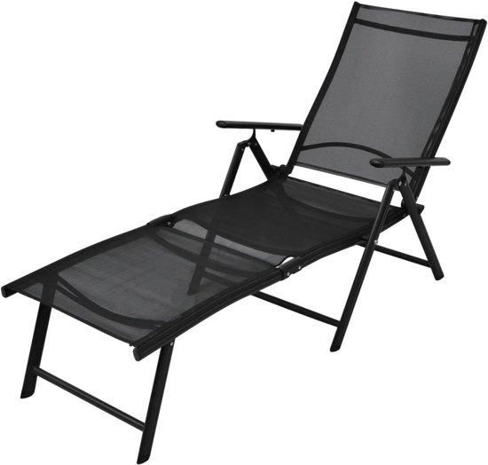 Genoeg bol.com   vidaXL Ligbed opvouwbaar aluminium 178x63,5x96 cm zwart XX68