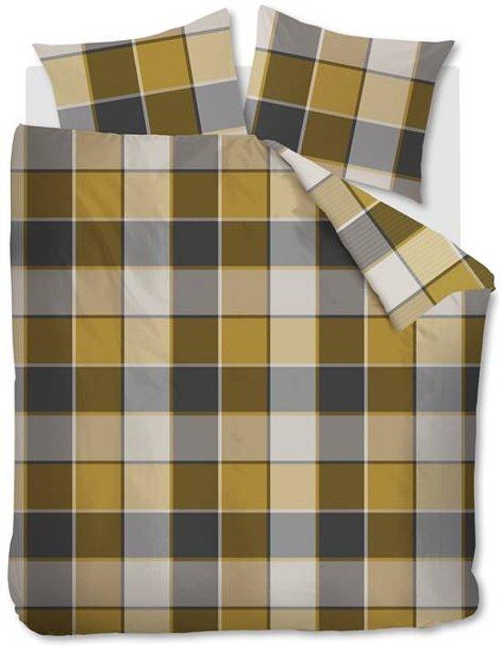 Snoozing Drummond - Flanel - Dekbedovertrek - Eenpersoons - 140x200/220 cm + 1 kussensloop 60x70 cm - Gold