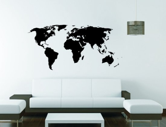 muursticker wallstickershop.eu   wereldkaart - world map