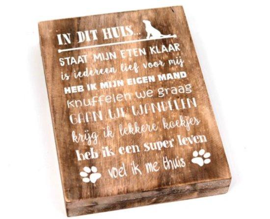 Bol Com Wandborden Hout Spreukbord Honden Spreuken Woondecoratie