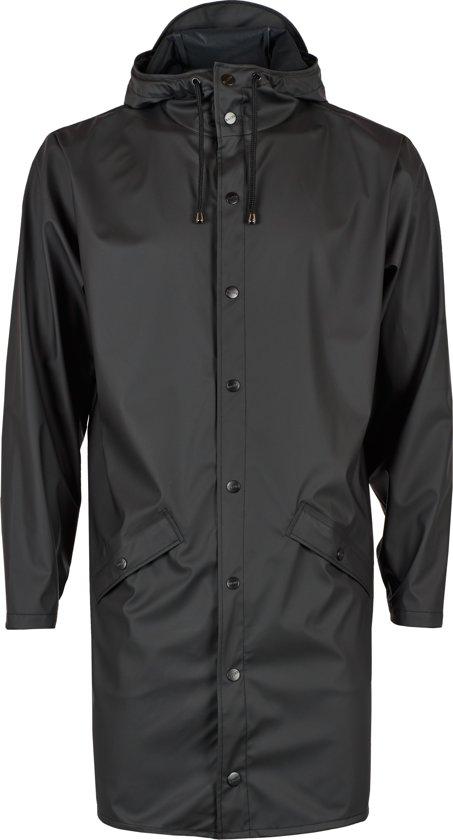Rains Long Jacket 1202 Regenjas - Unisex - Black