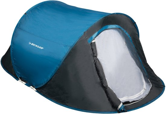 Dunlop Pop-up Tent - 2 persoons - 255 x 155 x 95 cm - Blauw