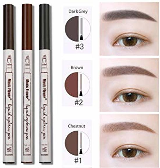 Microblading pen dark grey -  Wenkbrauwen - Waterbestendig - Make up - Dark grey