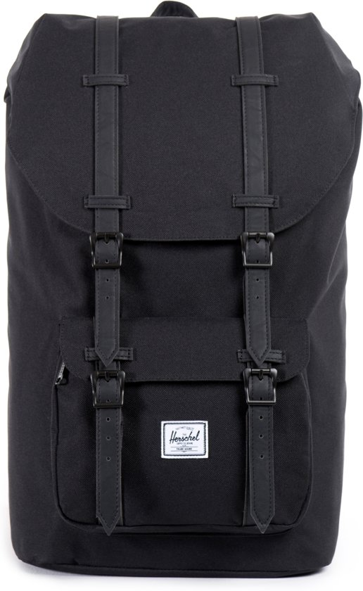 53d17b4e045 bol.com | Herschel Supply Co. Little America - Rugzak - Black / Black PU