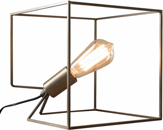 HomeisHome Tafellamp Cube Bronze