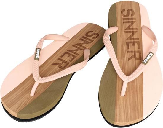 Sinner Capitola Women Dames Slippers - Licht roze/Licht bruin - Maat 38