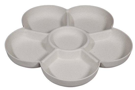 Zuperzozial Flower Power Chip & Dip - Snackbord - Ø 31,5 cm - Coconut White