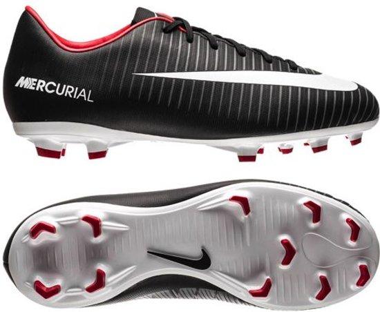 best loved 6aa49 62a0b Nike Mercurial Victory VI FG Pitch Dark - Voetbalschoenen Kinderen - Zwart   Wit  Rood