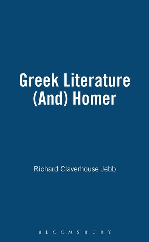 Greek Literature (and) Homer