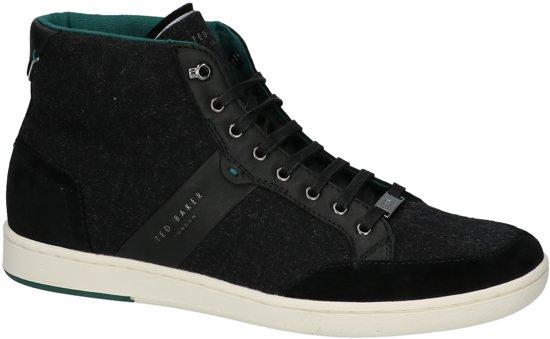 Ted Baker - Miykal  - Sneaker hoog gekleed - Heren - Maat 45 - Zwart - Black Wool/Leather