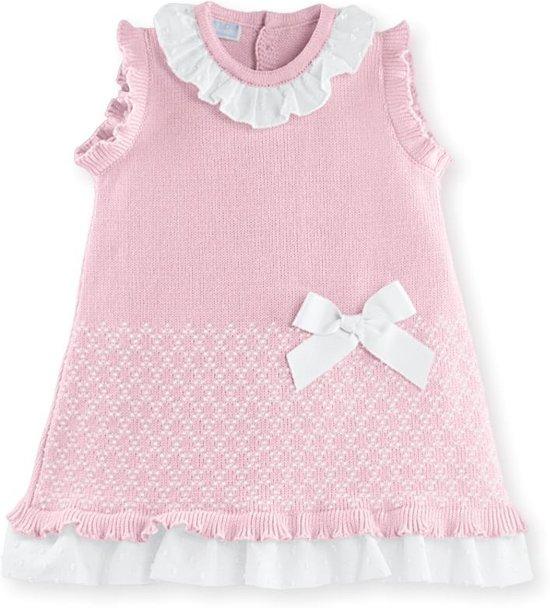 e81945b27ced3d Gebreide jurk - jurk voor baby- feest jurk -zalmkleurig jurkje-Chanty – 7245