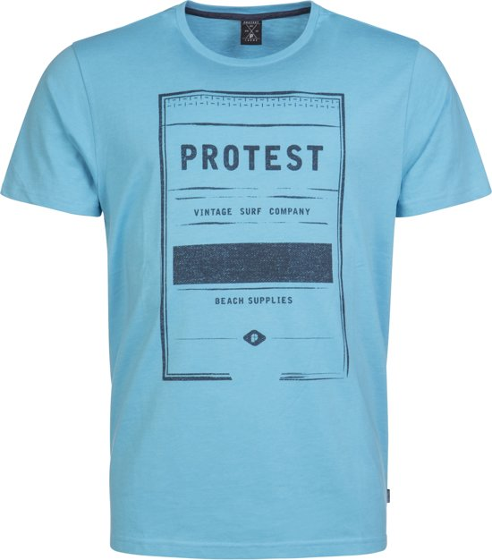 Protest DREVIL T-Shirt Heren - Sky - Maat L