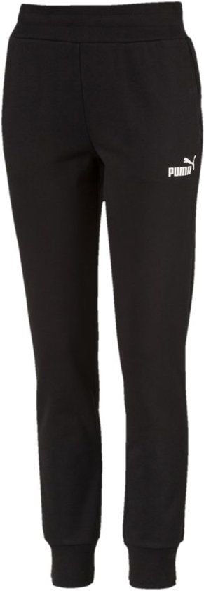 PUMA Ess Fl Cl Joggingsbroek Dames - Cotton Black
