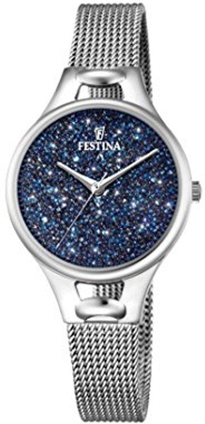 Festina Mademoiselle Swarovski crystals F20331/2 - Horloge - Dames - Zilverkleurig - Ø 32 mm