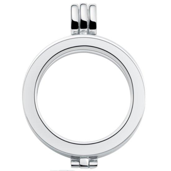 Hanger voor munt - munthouder - kleur zilver- 35 mm, maat L voor munt 33 mm