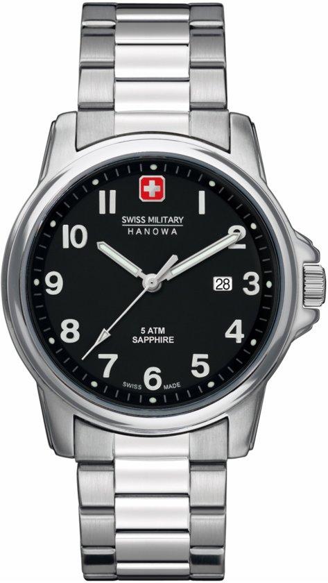 Swiss Military Hanowa 06-5231.04.007 horloge heren - zilver - edelstaal