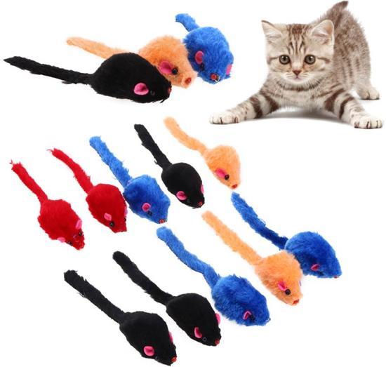 10x speelgoed voor katten | muis muizen | Multicolor