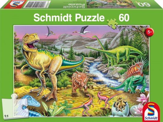 Bolcom Puzzel De Tijd Van De Dinos Kinderpuzzel 60 Stukjes