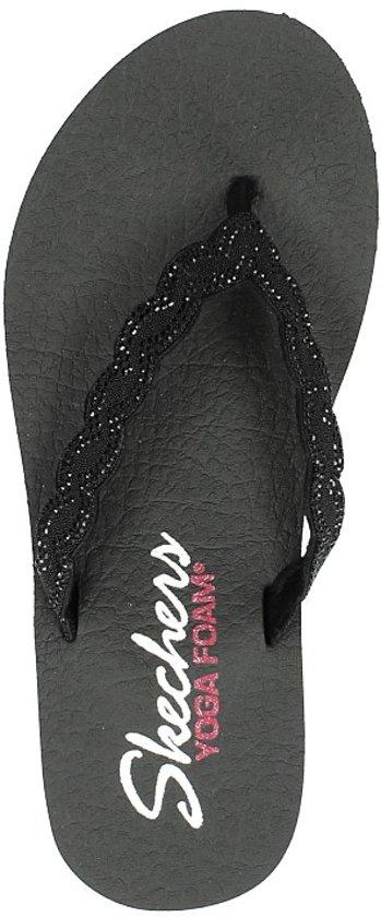 Skechers Meditation Glam Gladiator Dames Sandalen - Black
