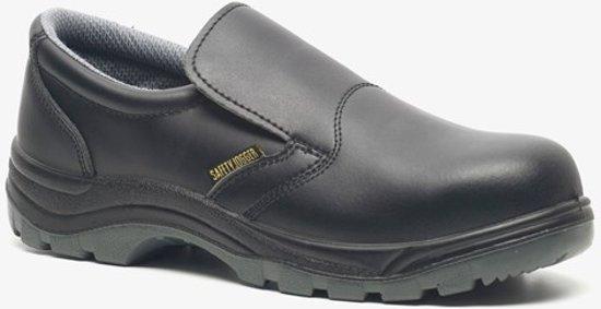 Safety Jogger leren heren werkschoenen Zwart Maat 44