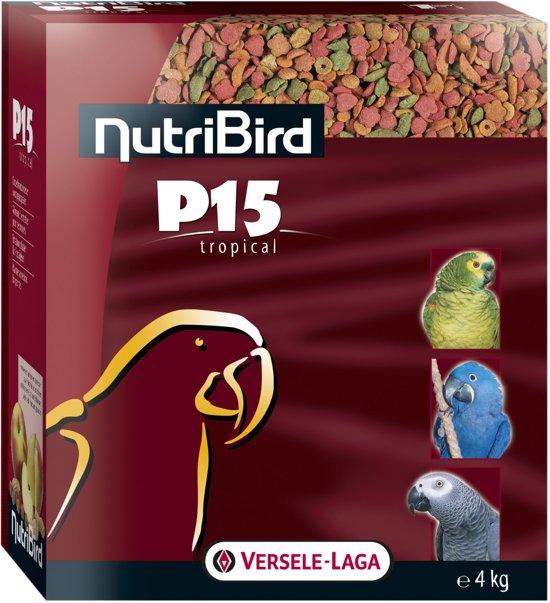 Nutribird P15 Tropical Onderhoudsvoeder Papegaaienvoer - 4 kg