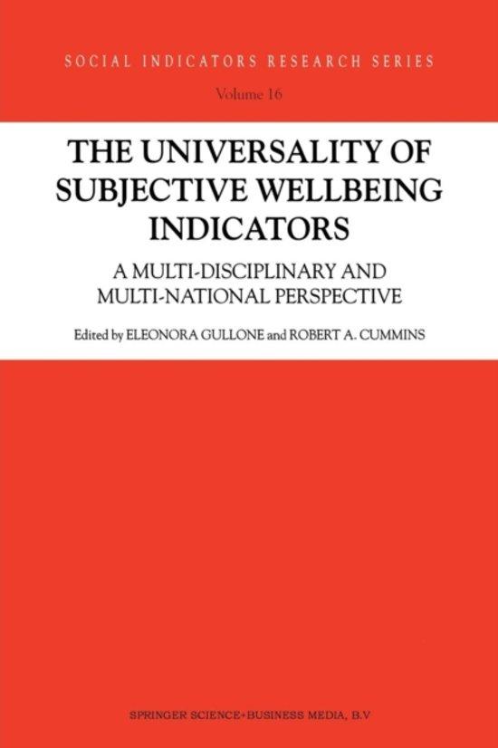 The Universality of Subjective Wellbeing Indicators