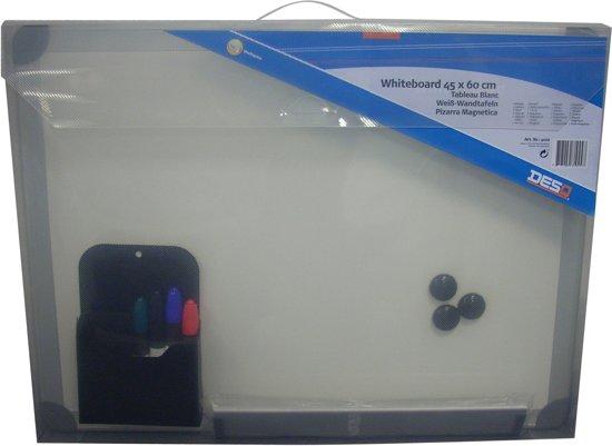 DESQ Whiteboard 45x60 met accessoires
