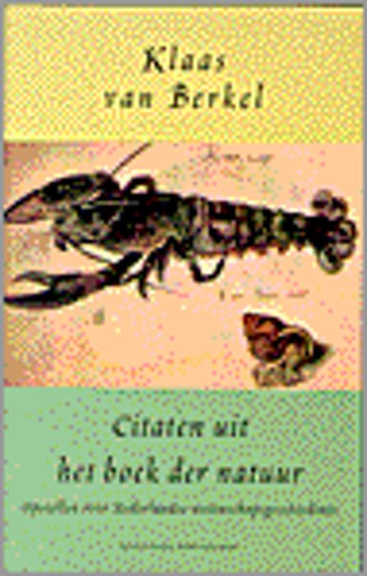 Citaten Over Boeken : Bol citaten uit het boek der natuur van berkel