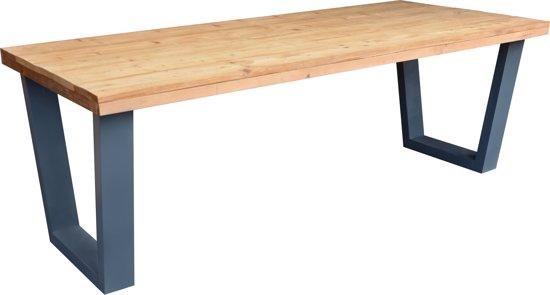 Industriele Tafel Eettafel.Bol Com Eettafel New York Antraciet Industriele Tafel V Poot