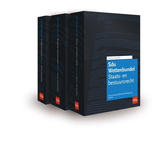 Boek cover Educatieve wettenverzameling - Sdu Wettenbundel 2019-2020 (set 3 ex) van  (Paperback)