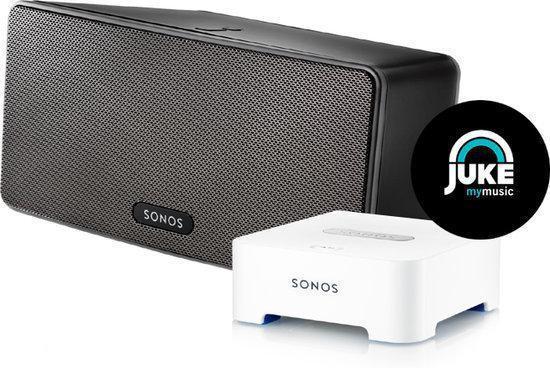 Sonos PLAY:3 + Bridge - Voordeelbundel - Zwart