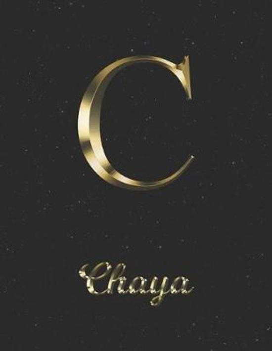 Chaya: 1 Year Daily Planner (12 Months) - Yellow Gold Effect Letter C Initial First Name - 2020 - 2021 - 365 Pages for Planni