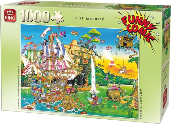 Funny Comic Puzzel 1000 Stukjes JUST MARRIED