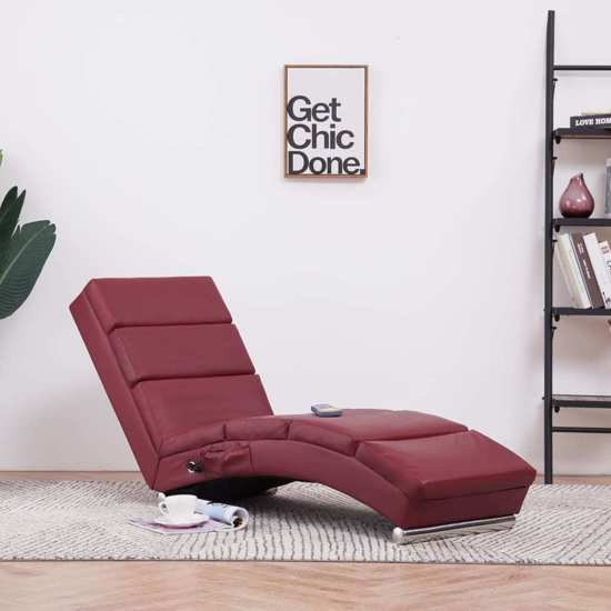 Admirable Massage Chaise Longue Rood Kunstleer Chaise Loungebank Chaise Sofa Chaise Lounge Bank Chaise Longchair Machost Co Dining Chair Design Ideas Machostcouk