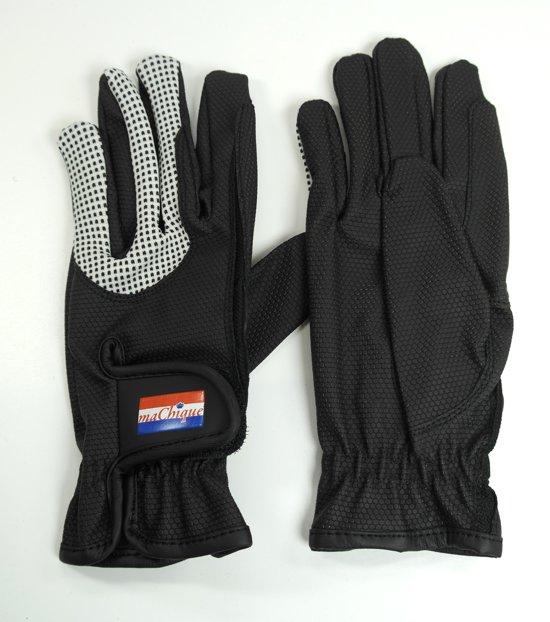 MaChique handschoenen met kunstlederen binnen en bovenzijde met wit katoenen accenten maat L HT5127