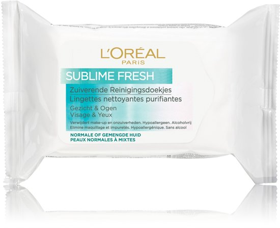 L'Oréal Paris Dermo Expertise Triple Active - Normale tot Gemengde Huid - Reinigingstissues