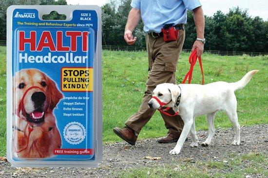 Halti - Anti-trek halsband - Zwart