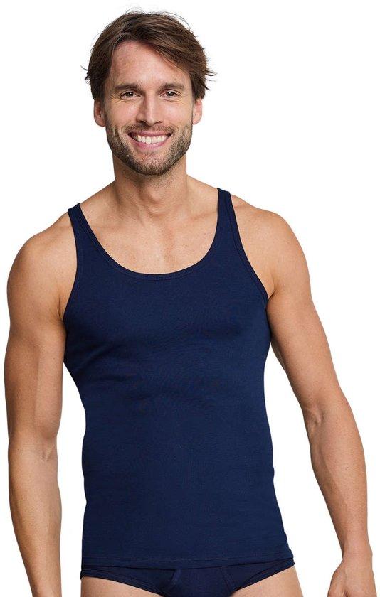 a211488ecaa bol.com | Schiesser Original Feinripp Heren Onderhemd - Navy - Maat XXL